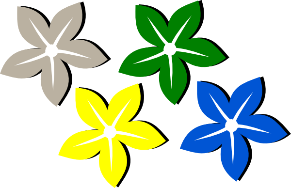 Colored Flowers Clip Art at Clker.com.