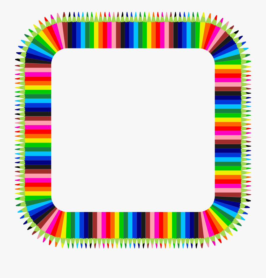 Colorful Pencils Frame 3 Clip Arts.