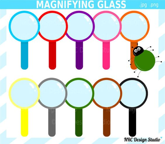 Magnifying Glass Clip Art.