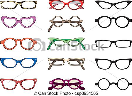 Clipart Vector of Glasses.