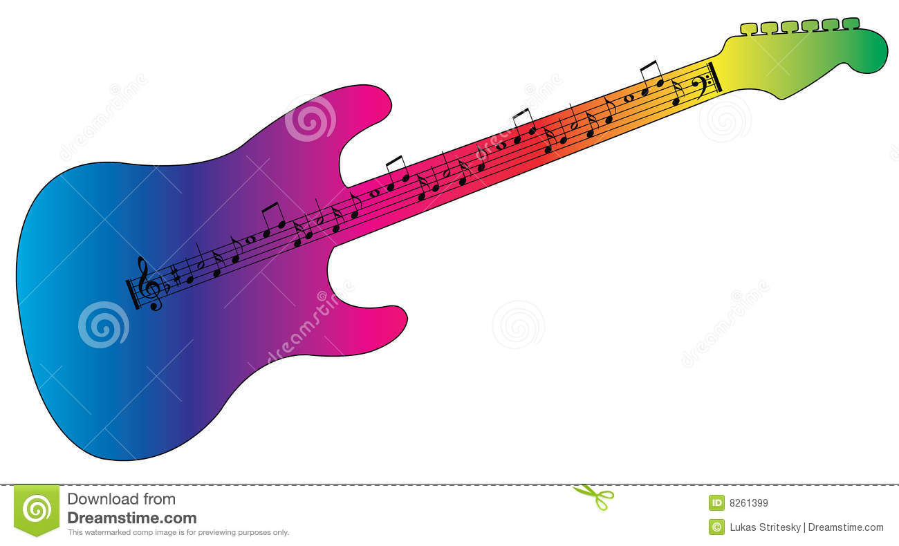 Colorful Guitar Clipart.