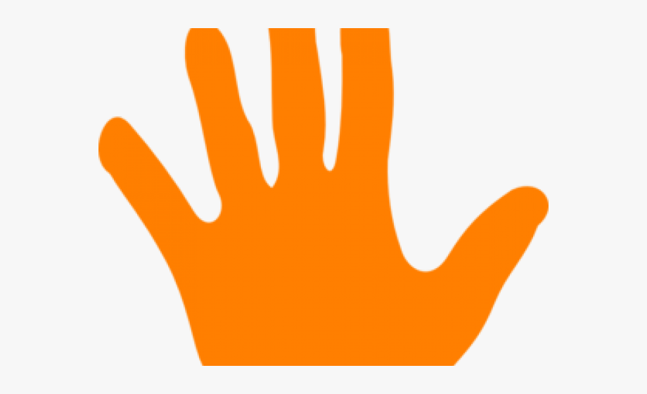 Handprint Clipart Colored.