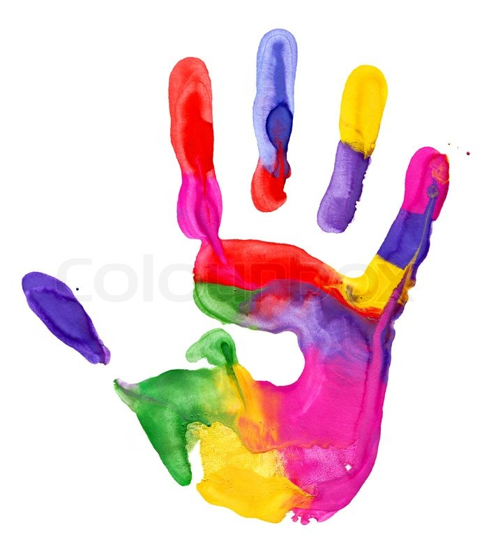Clipart of the Colorful Handprint free image.