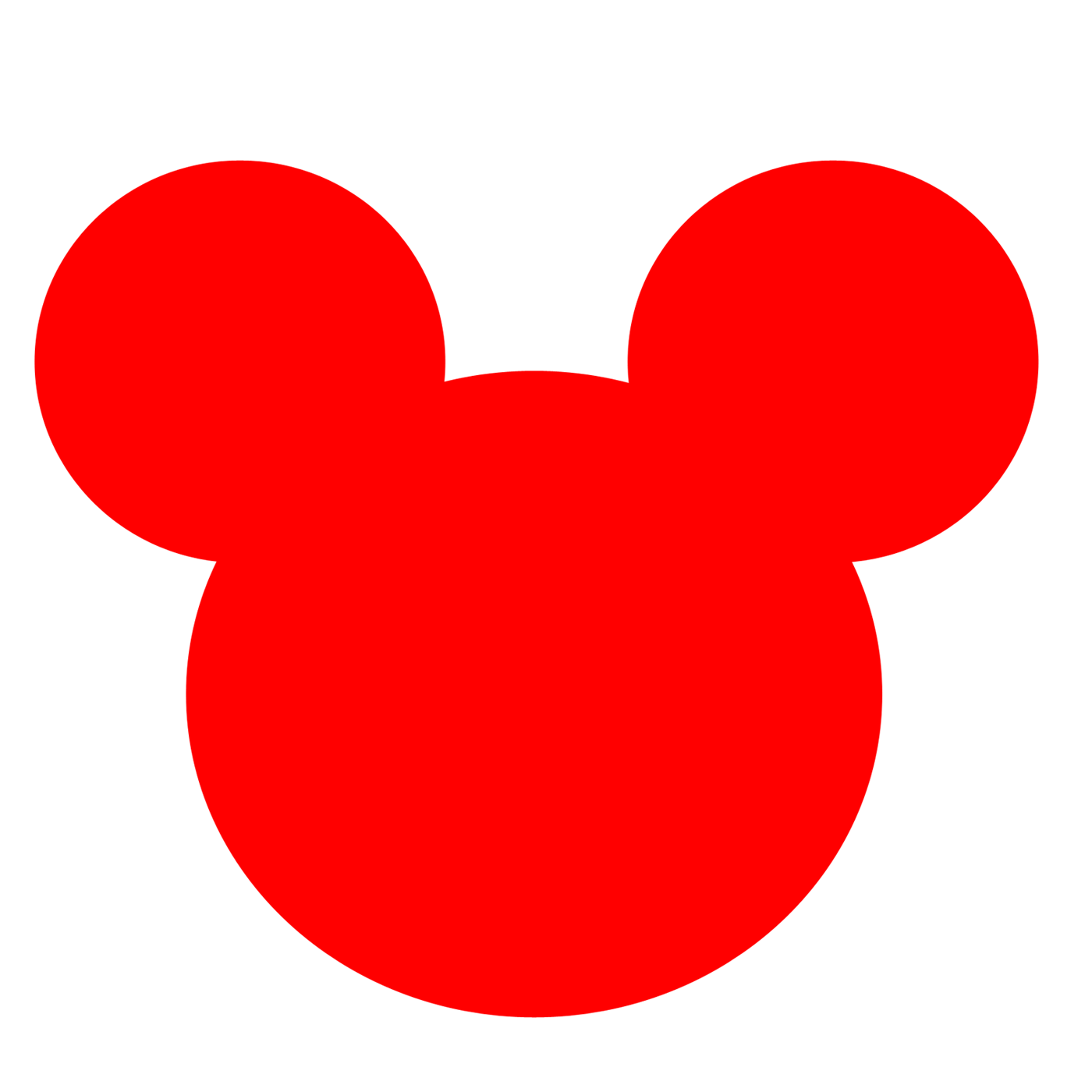 Mickey mouse clipart face.