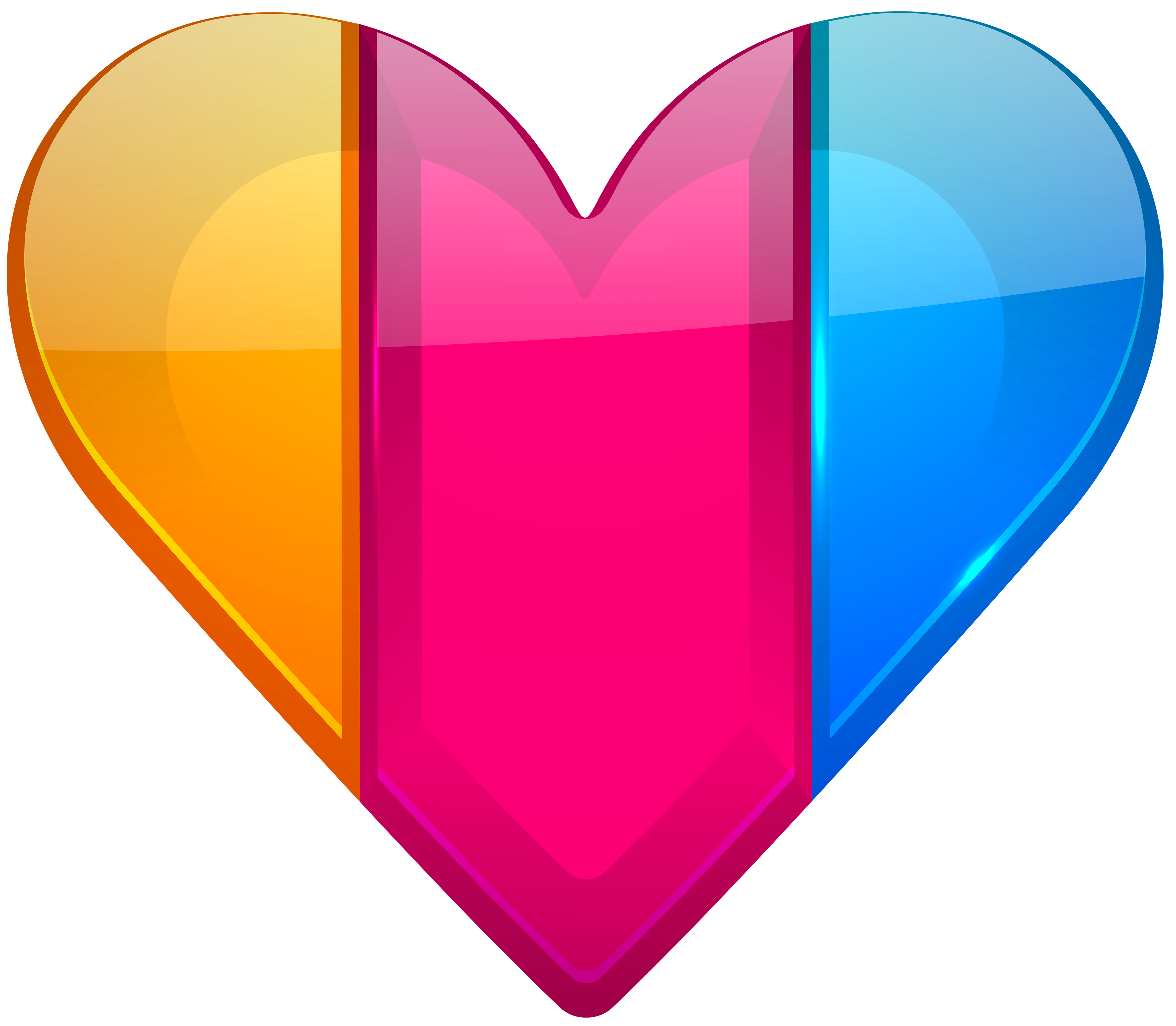 Colorful Heart PNG Clipart.