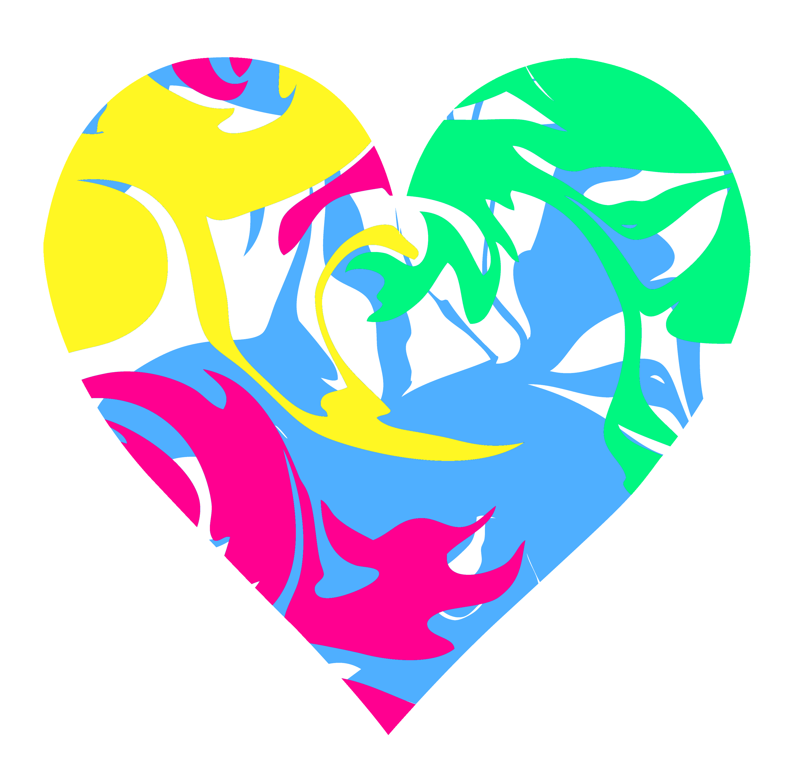 Colorful Hearts Clipart.