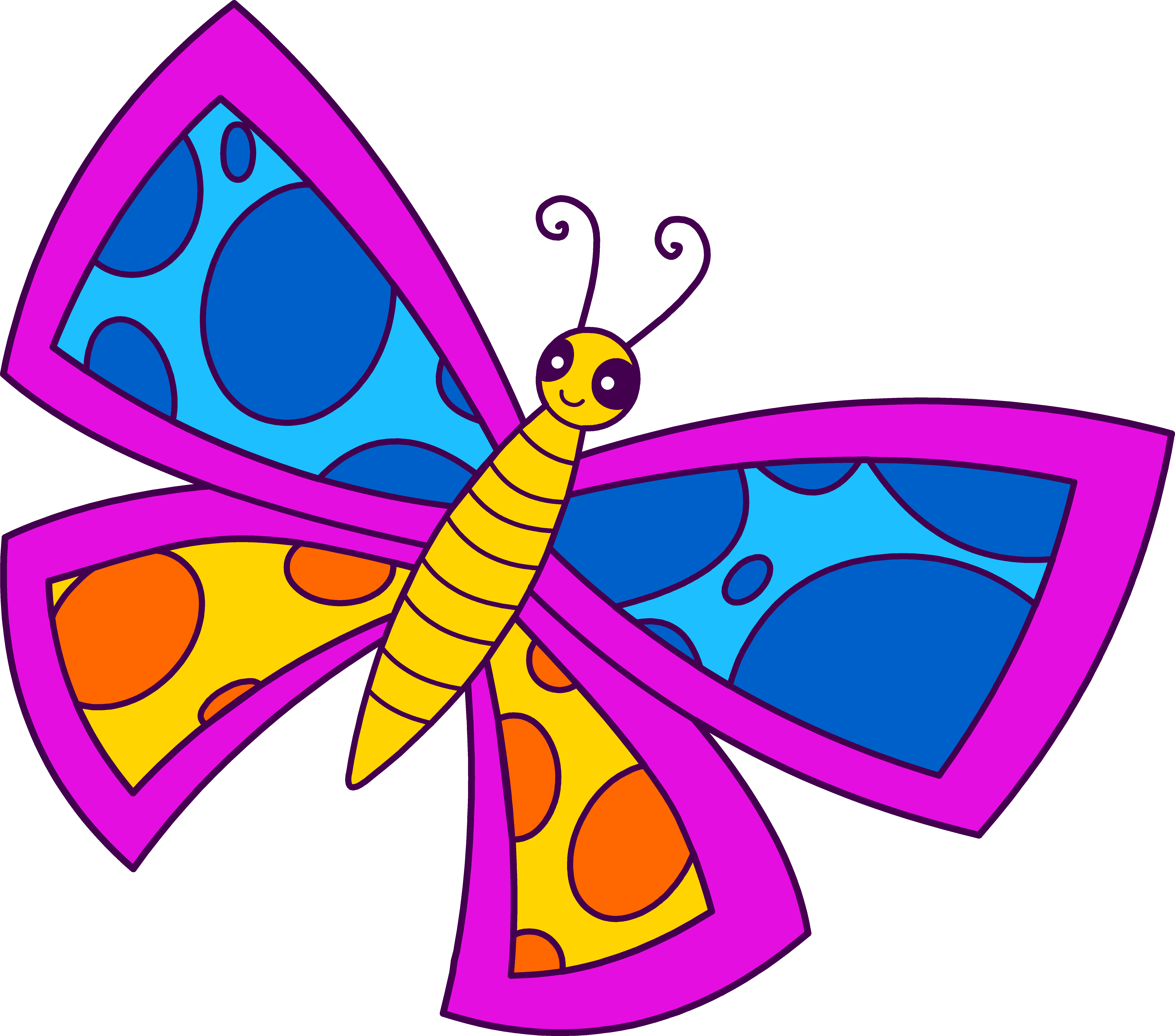 Cartoon Butterfly Clipart.