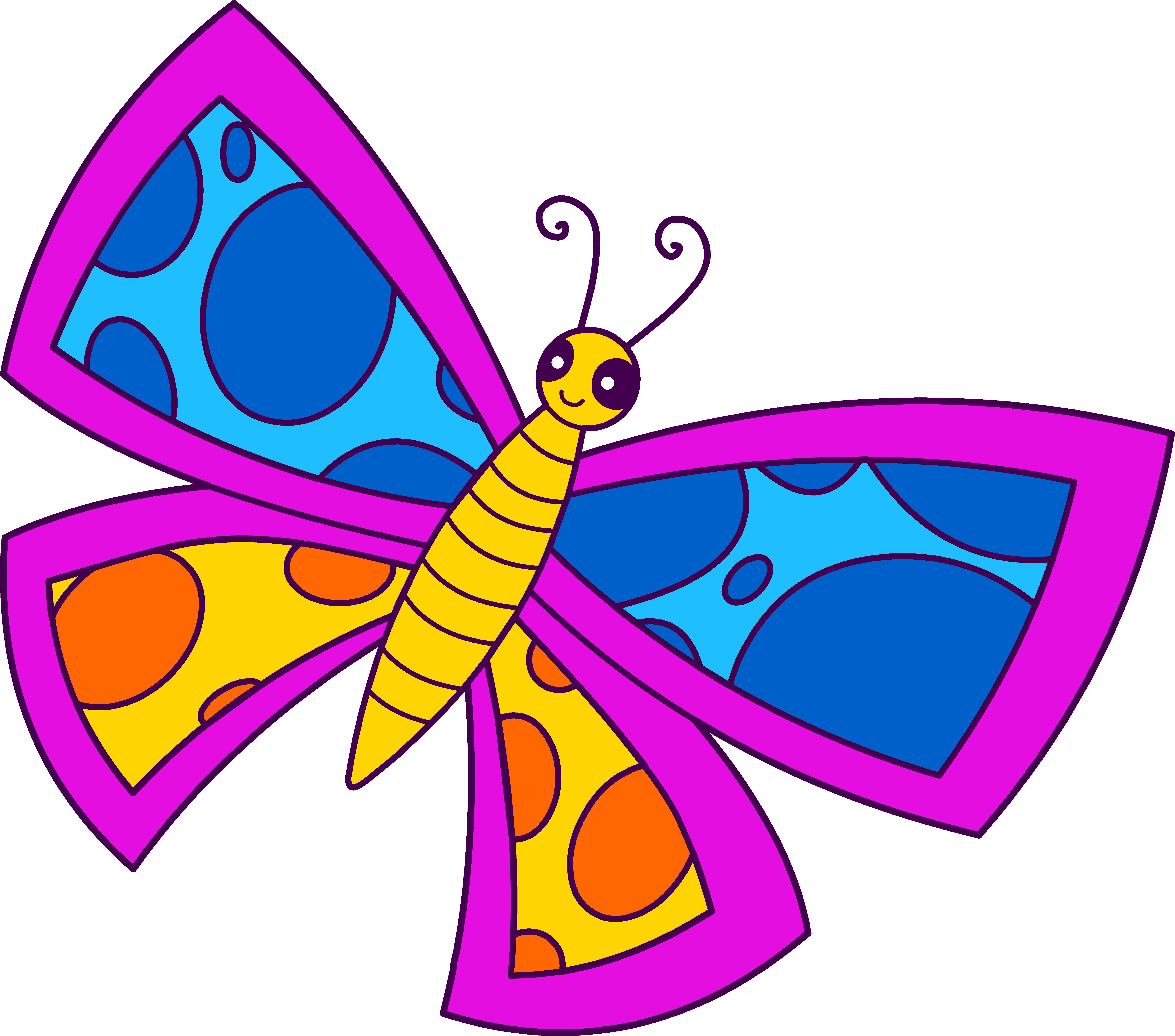 Cartoon Butterfly Clipart.
