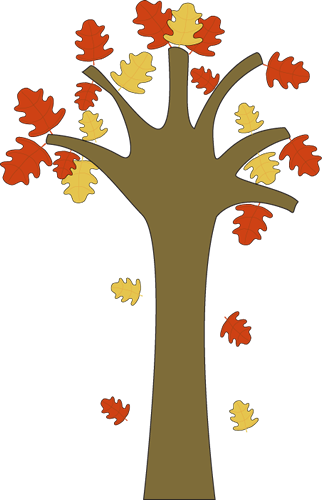 Leaves Falling from Tree Clip Art.
