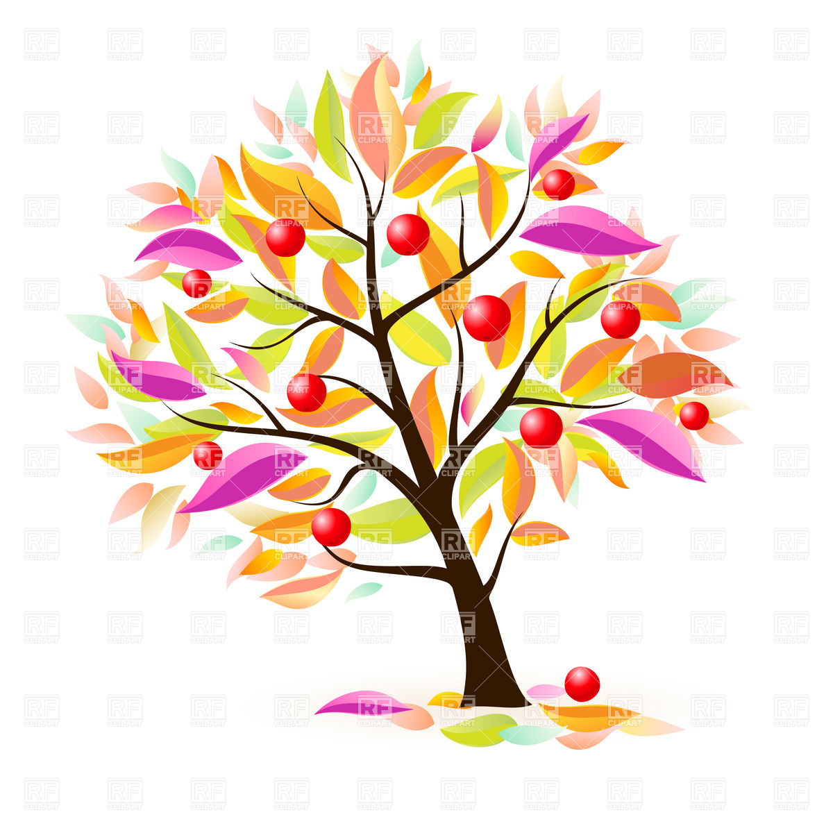 Cute Fall Leaves Clipart.