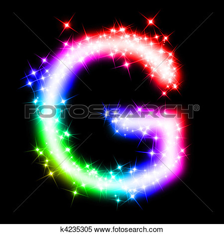 Colorful Letter G Clipart.