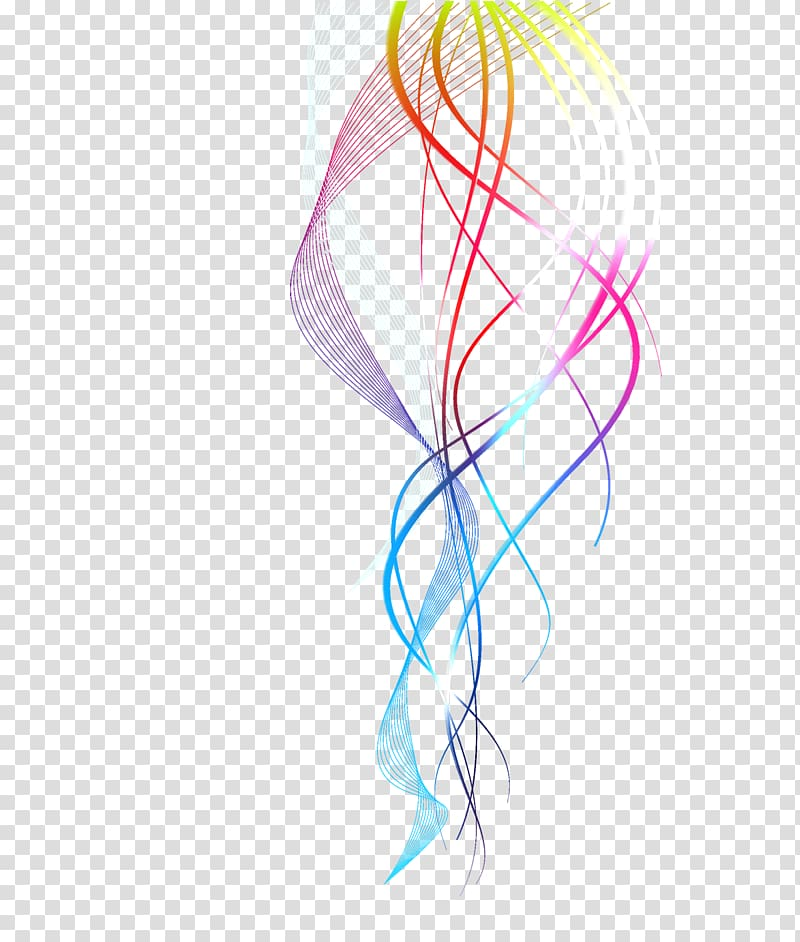 Multicolored , Line , Colorful lines transparent background.