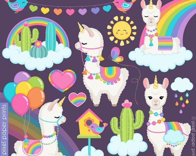 Colorful Llamas.