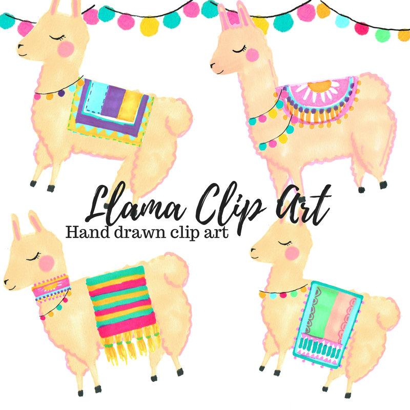 1024 Llama free clipart.