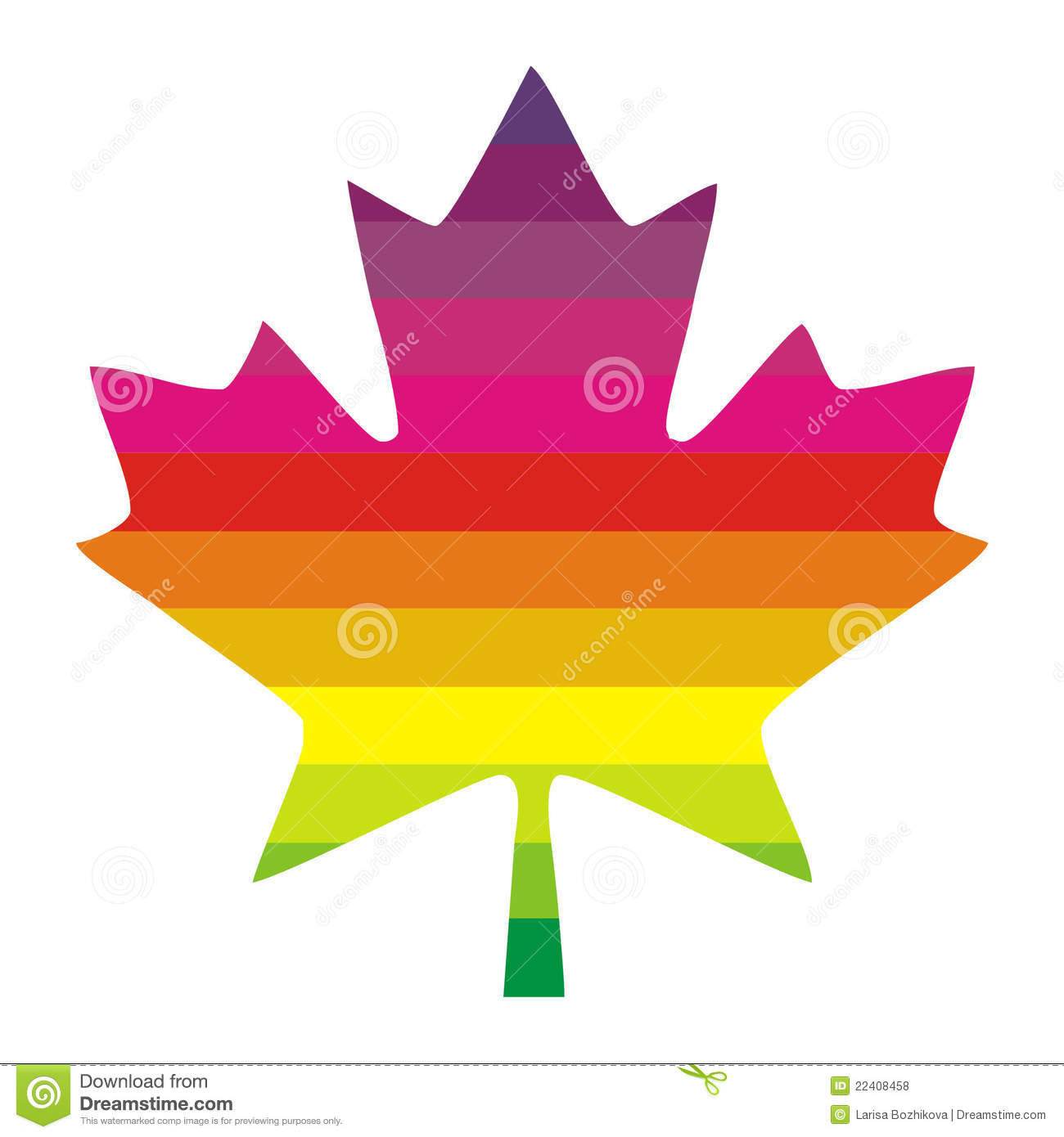 Multi Colored Maple Leaf Royalty Free Stock Photos.