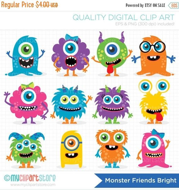 Monster clipart colorful monster, Monster colorful monster.
