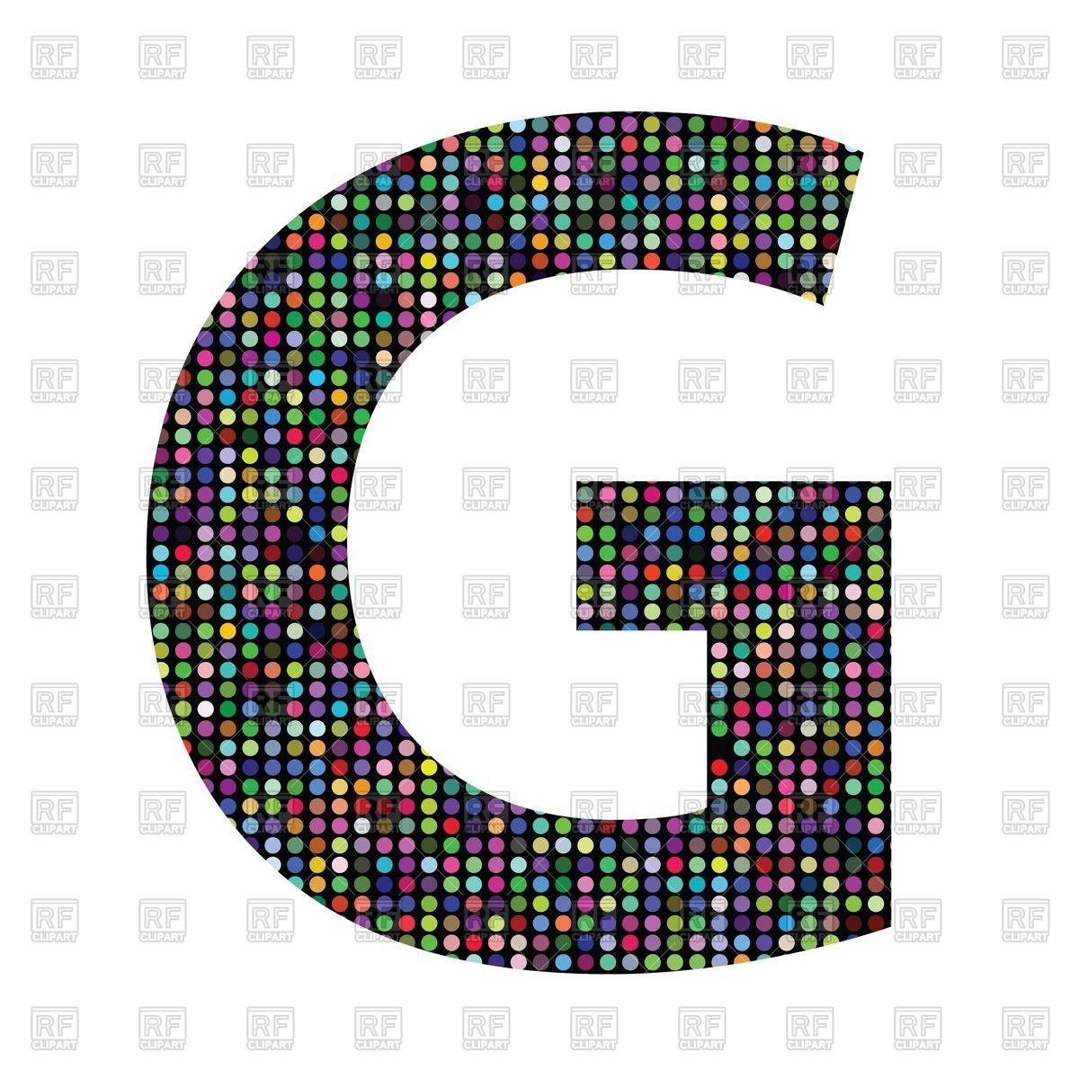 Colorful mosaic font.