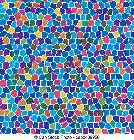 Vector Clipart of vector abstract colorful mosaic background.