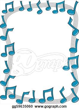 Colorful Music Borders Clip Art.