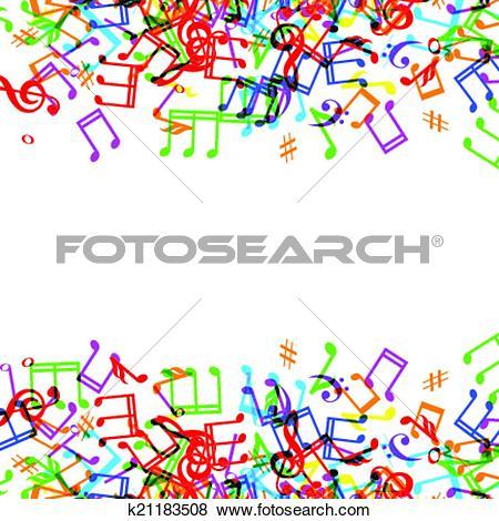 Clip Art of music notes border k21183508.