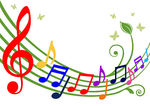 Music Note Border Clipart.