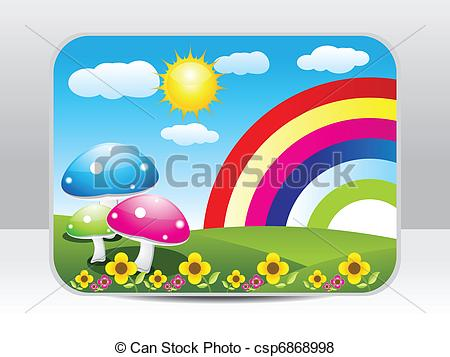 Vector of abstract colorful nature background vector illustration.