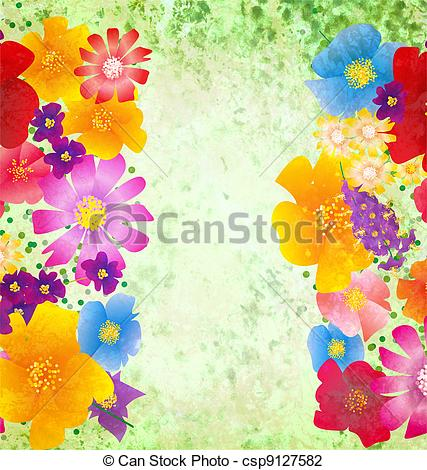 Colorful nature clipart.