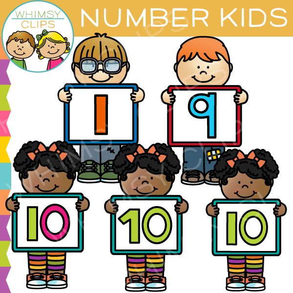 Number Kids Clip Art , Images & Illustrations.