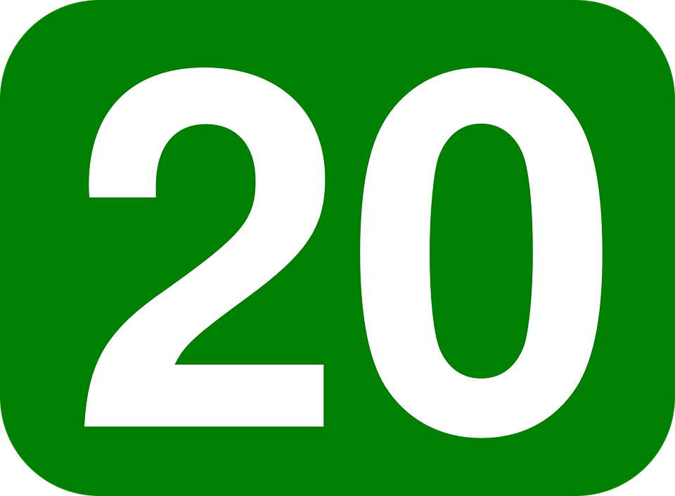 Colorful Number 20 Clipart Png Clipground