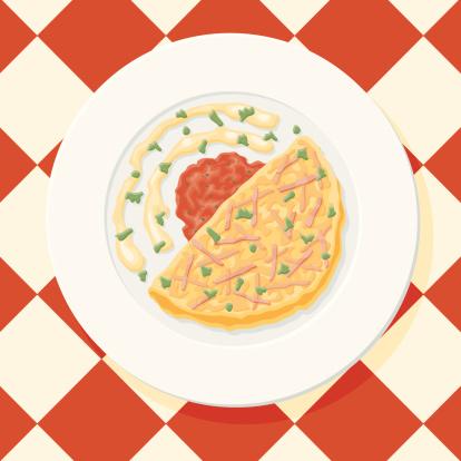 Omelette Clip Art, Vector Images & Illustrations.