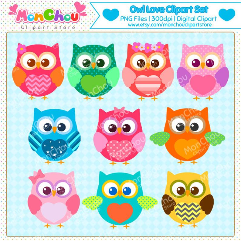 Colorful Owl Clipart.