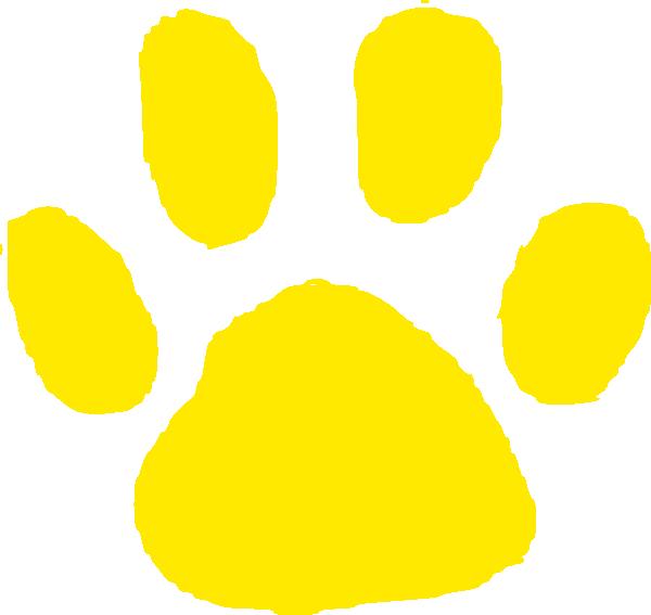Jaguar Paw Prints Clip Art.