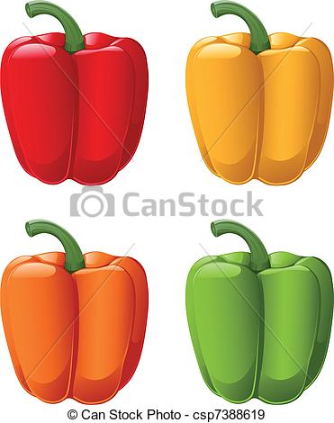 EPS Vectors of Sweet Peppers.