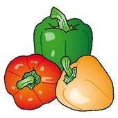 Clipart of red and green jalapeno peppers jba0801.