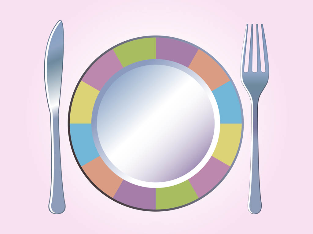 Colorful Plate Vector.