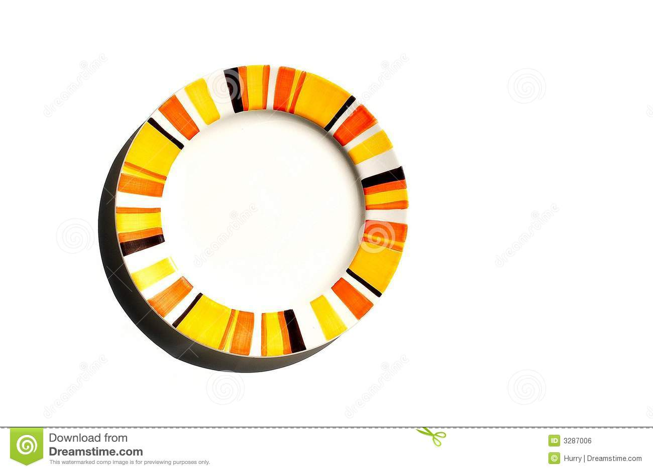 Colorful Plate Royalty Free Stock Image.