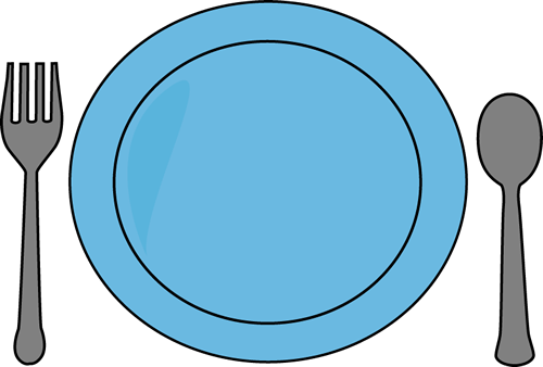 Plate Of Food Clipart.
