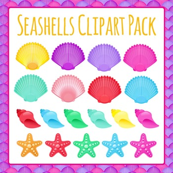 Seashells Clipart Worksheets & Teaching Resources.