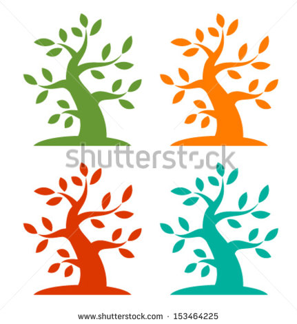 Four Seasons Love Stock Vector 57857701.