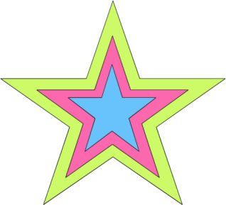 Colorful stars clipart.