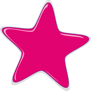 Pink Star Clip Art at Clker.com.