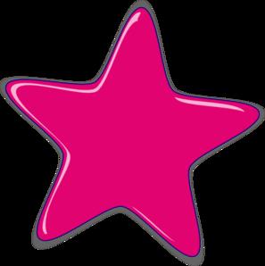 Pink Star Clip Art at Clker.com.