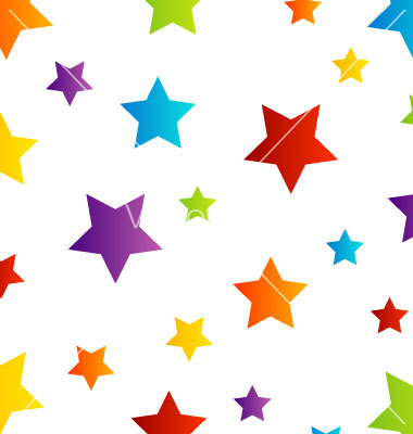 Colorful Stars Background Clip Art.