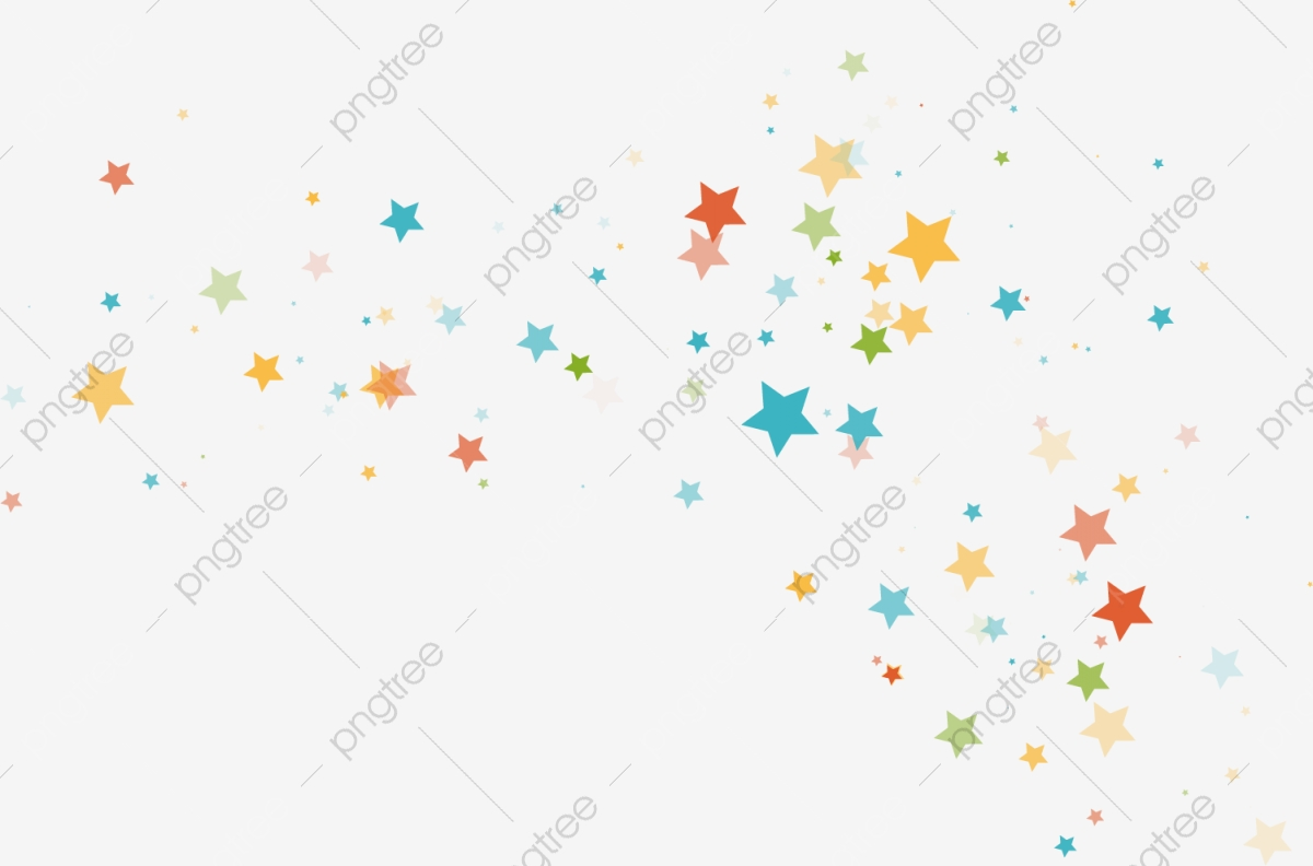 Colorful Stars, Beautiful, Colourful, Stars PNG Transparent Image.