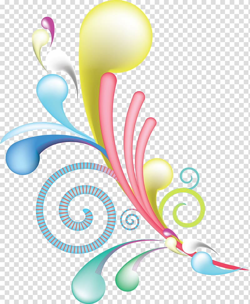 Color , swirls transparent background PNG clipart.
