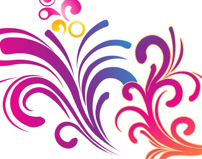 Colorful Swirl Clip Art free image.