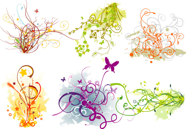Colorful swirls vector art graphics Free vector in.