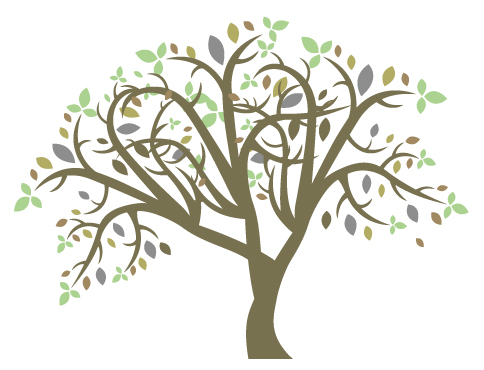 Fre Colorful Tree Clipart.