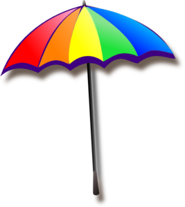 Colorful Umbrella Clip Art.