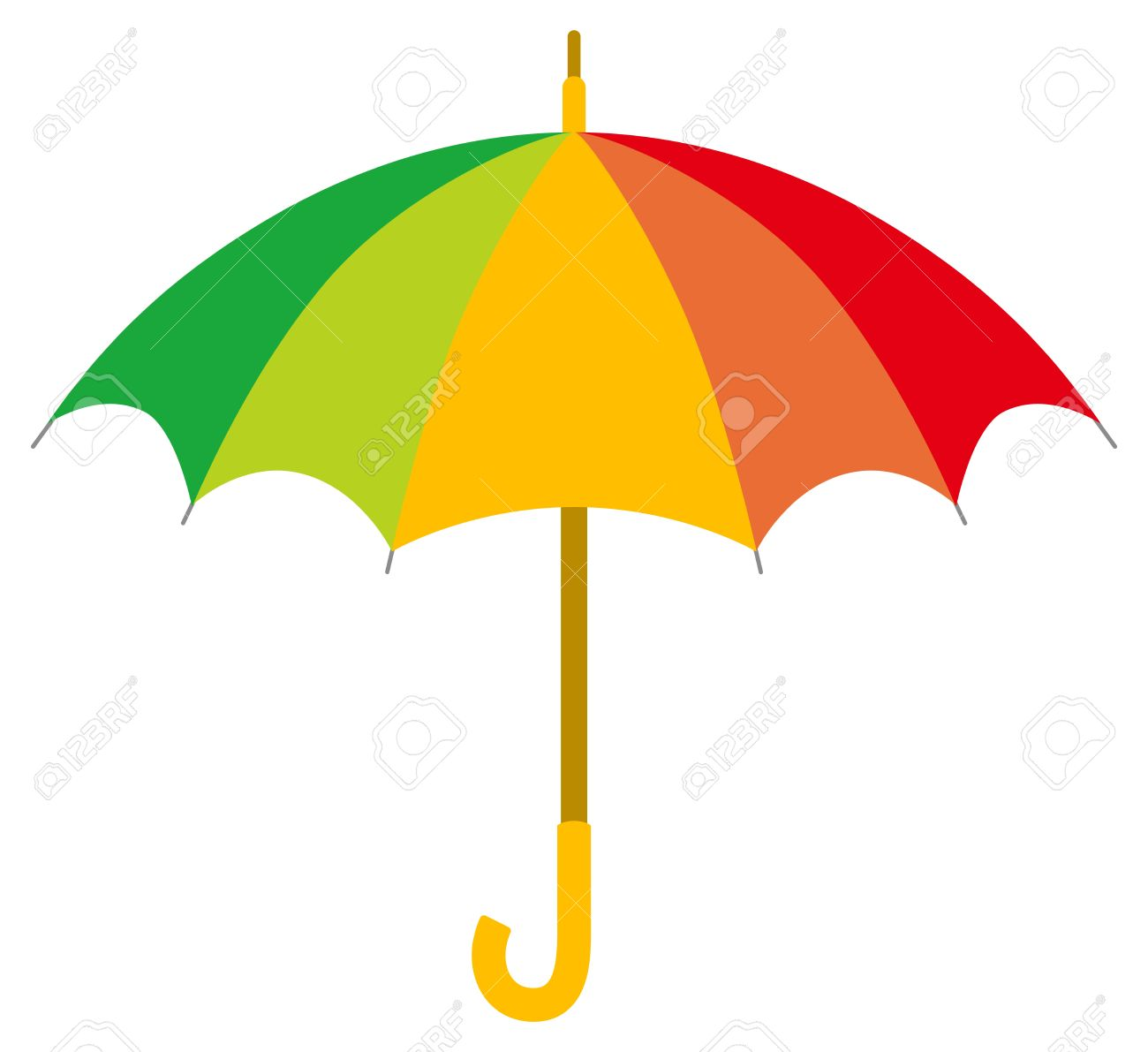 Colorful Umbrella Royalty Free Cliparts, Vectors, And Stock.
